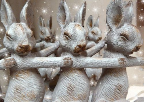 Row Of Easter Bunnies