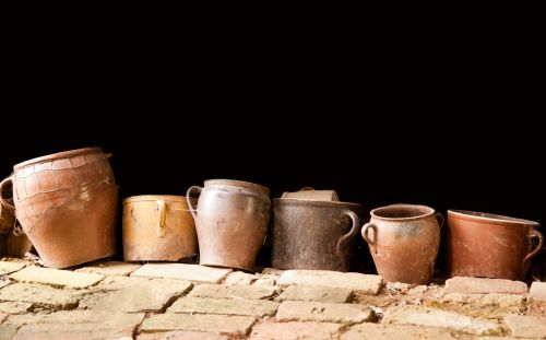 Row Of Old Pots