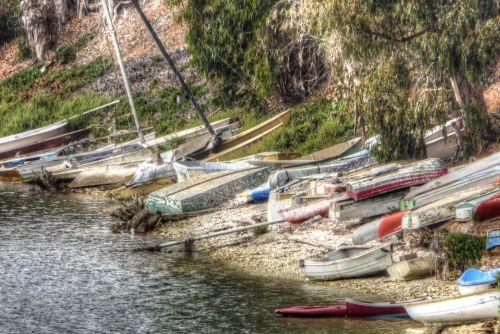 Row Of Rowboats