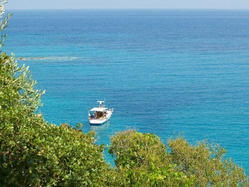 rowboat sea view