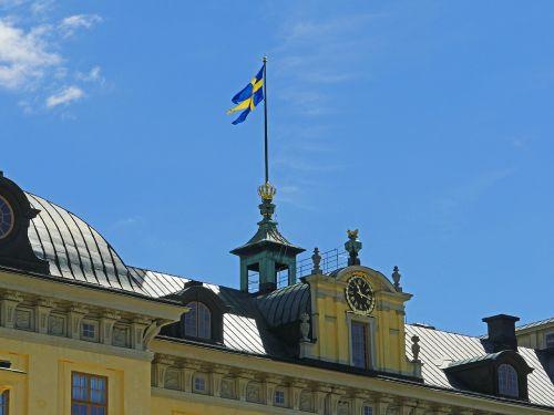 royal flag drottningholm palace stockholm