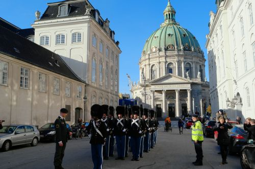 royal life guards soldiers the marble church