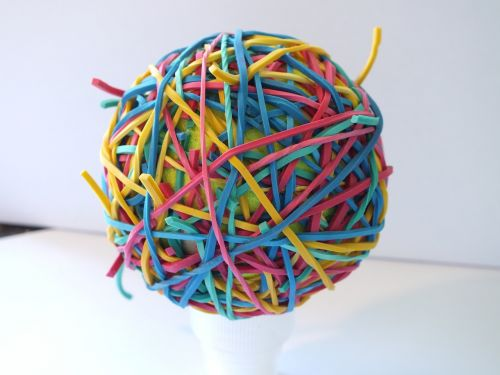 rubber bands colour ball