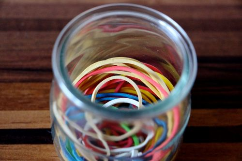 rubber bands colorful rubber