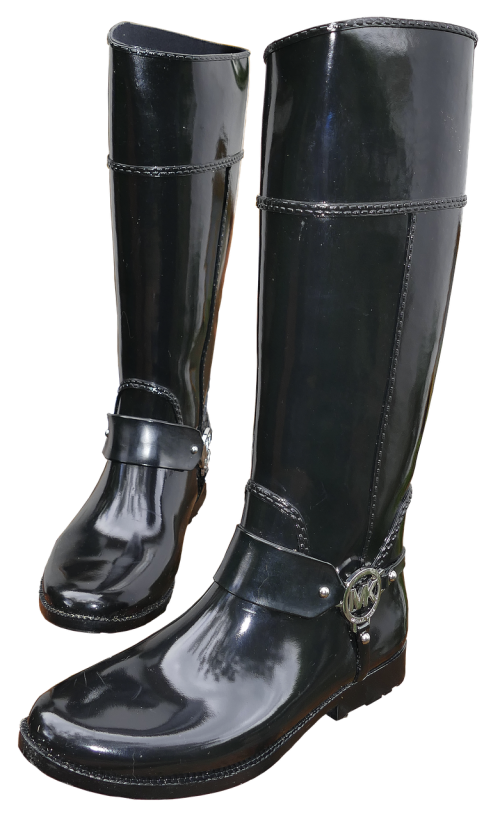 rubber boots women boots black