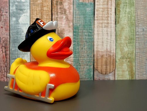 rubber duck  fire fighter  squeak duck