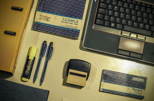 rubber stamp laptop keyboard
