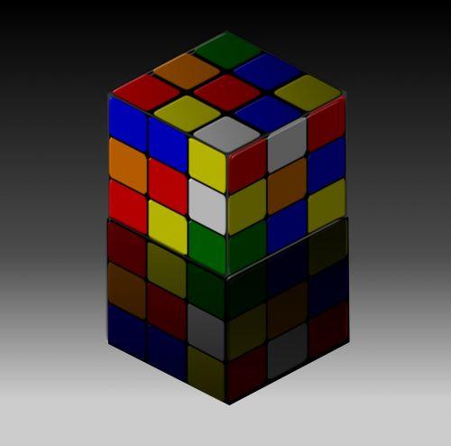 rubik cube reflection