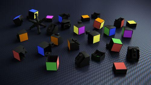 rubik's cube 3d broken