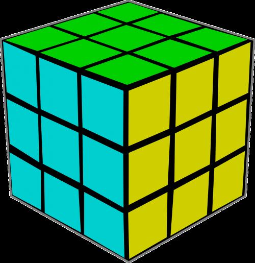 rubik's cube puzzle color