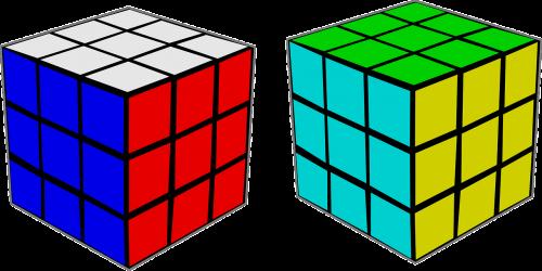 Rubiko kubas,galvosūkis,spalva,kubas,nemokama vektorinė grafika