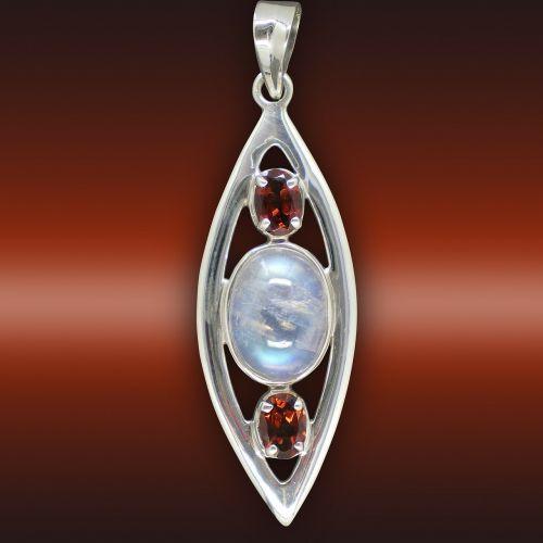 rubin gems moonstone