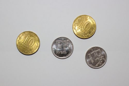 ruble money coins