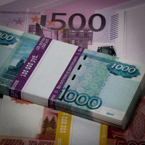 ruble money thousand rubles