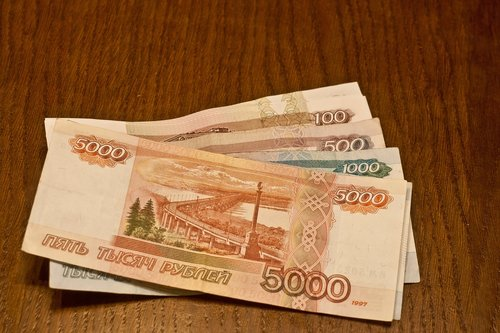 ruble  bills  money