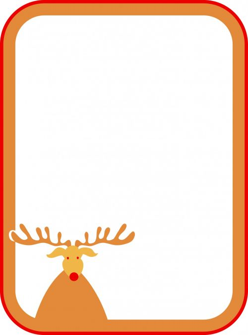 Rudolf Christmas Sign