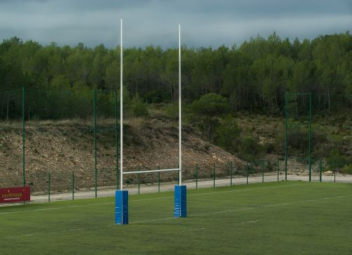 rugby rugby field poles