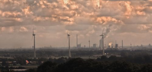 ruhr area air pollution chimney