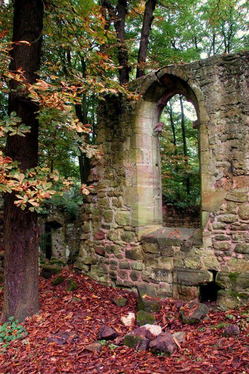ruin autumn architecture