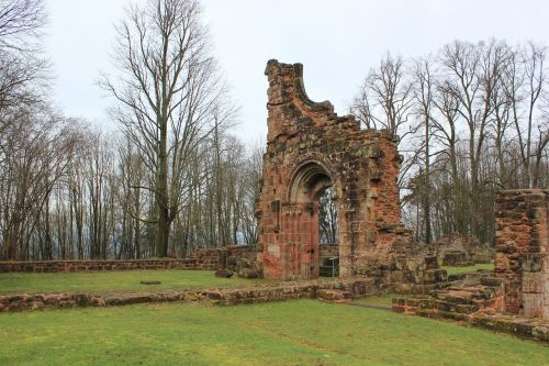 ruin monastery middle ages