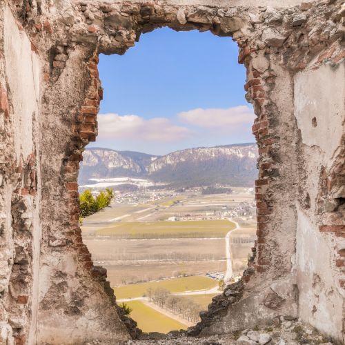 ruin landscape austria