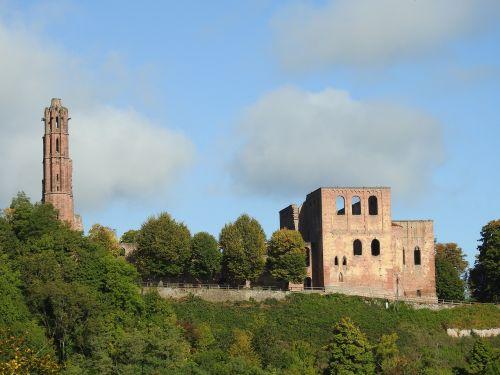 ruin monastery ruins bad dürkheim