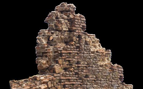 ruin remains stone wall