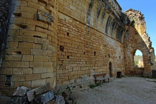 ruin  castle of commarque  dordogne