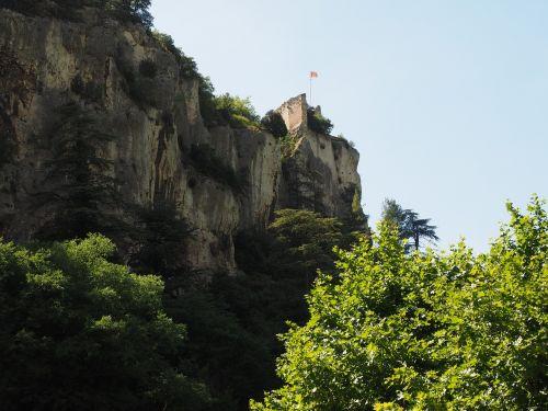ruin of philippe de cabassolle castle burgruine