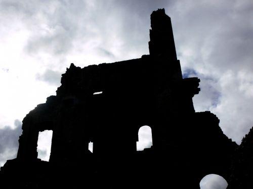 Ruined Castle Silhouette