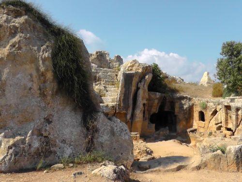 griuvėsiai,Kipras,urvas,senovės,sala,akropolis,Viduržemio jūros