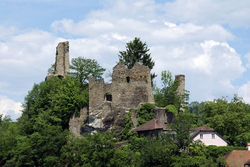 ruins of the castle neck  passau  bavaria