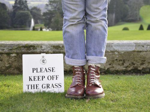 rule breaker boots grass