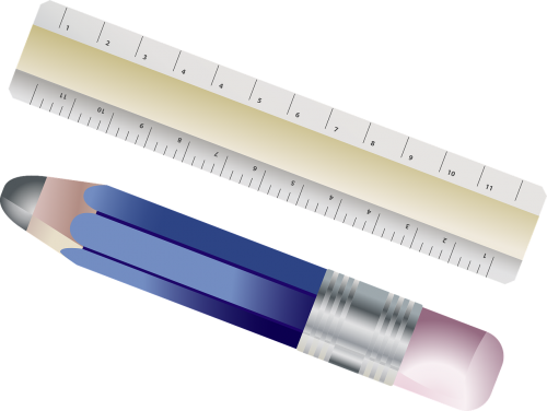 ruler pencil writing implement
