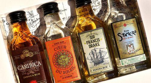 rum alcohol bottles
