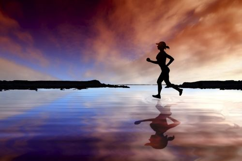 runner female runner running