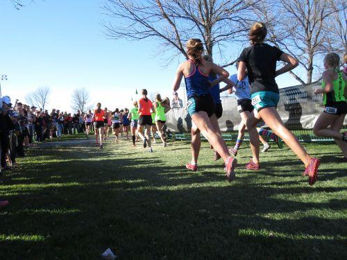 runners cross-country race