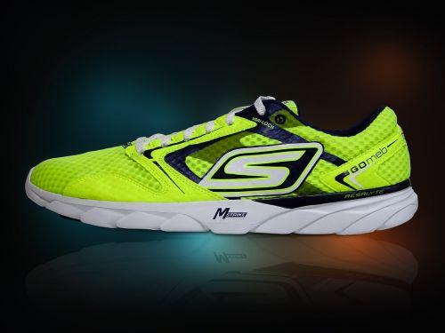 running shoe luminous bright