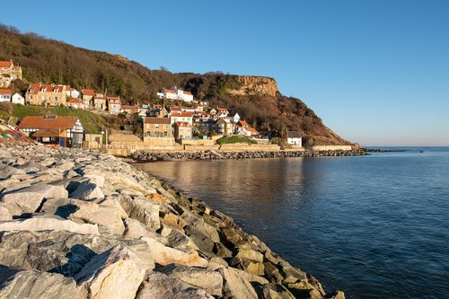 runswick bay  village  yorkshire
