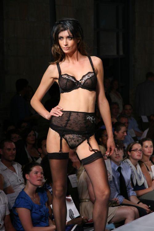 runway attractive woman fashion