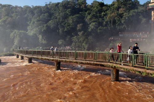 runway iguazu falls waterfalls