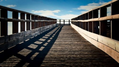 runway wooden summer