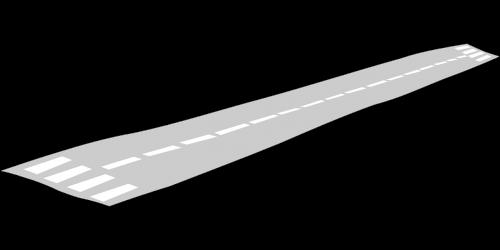 runway airport stylized
