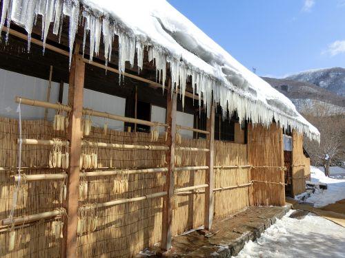 rural houses winter tohoku
