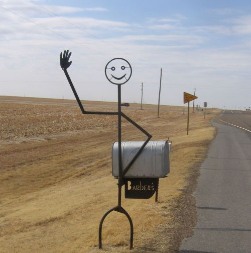 Rural Iron Man Mailbox