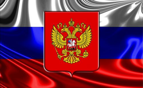 russia russian flag russian coat of arms