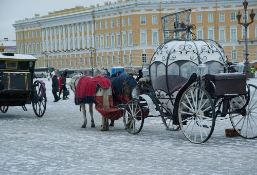 russia saint-petersburg carriages