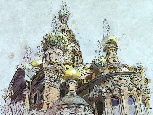 russia saint petersbourg cathedral