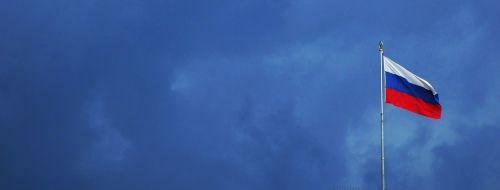 russia flag clouds