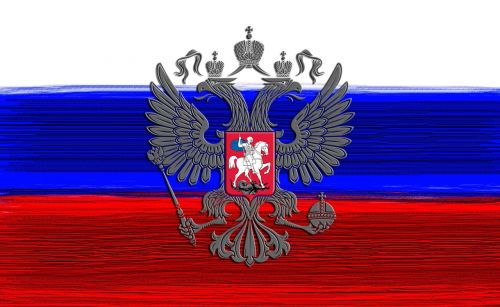 russian flag russian coat of arms russian imperial eagle